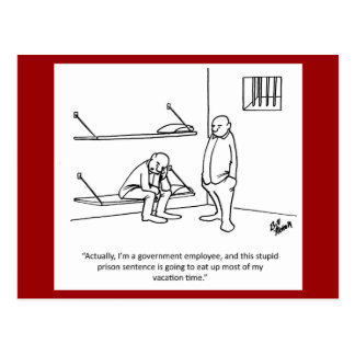Regierung/politische Spaß-Postkarte