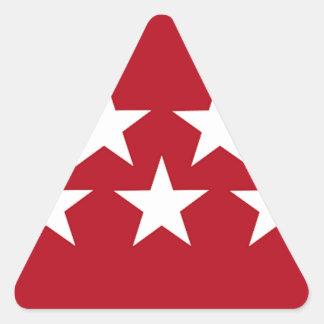 (Regionale) Flagge Madrids Spanien Dreieckiger Aufkleber