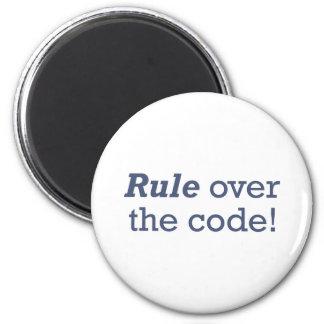 Règle/code Magnet Rond 8 Cm