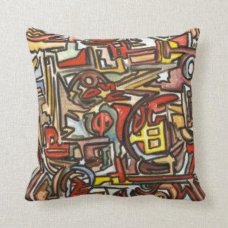 Regnerische Tag-Abstrakte Kunst handgemalt Kissen