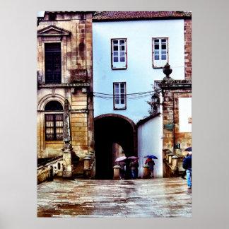 Regnerische Tage in Spanien Poster