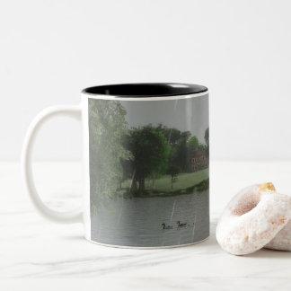 Regnerischer Tag an der See-Tasse Zweifarbige Tasse