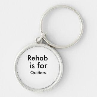 Rehabilitation Silberfarbener Runder Schlüsselanhänger