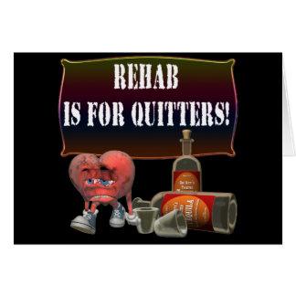 Rehabilitations-Bier-T - Shirt-Geschenke Karte