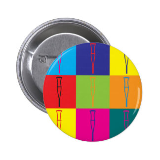 Rehabilitations-Pop-Kunst Runder Button 5,1 Cm