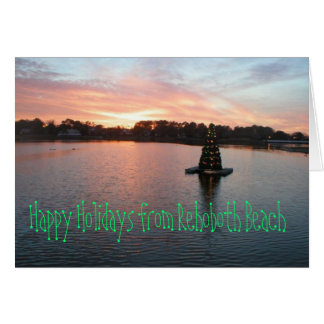 Rehoboth Strand, DE Holiday Card Grußkarte
