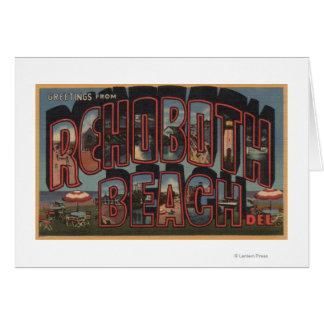 Rehoboth Strand, Delaware - große Buchstabe-Szenen Grußkarte