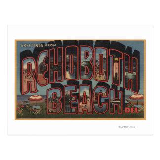 Rehoboth Strand, Delaware - große Buchstabe-Szenen Postkarte