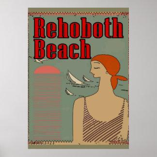 Rehoboth Strand-Kunst-Deko Poster
