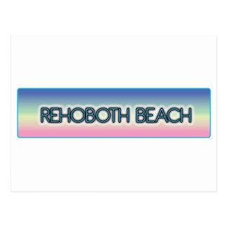Rehoboth Strand-Pastellregenbogen-Art 1 Postkarte