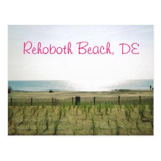 Rehoboth Strand-Postkarte - rosa Tinte Postkarte
