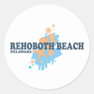 Rehoboth Strand Runder Aufkleber