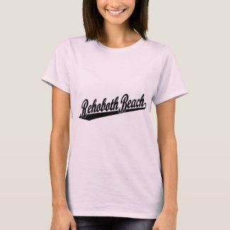 Rehoboth Strand-Skriptlogo im Schwarzen T-Shirt