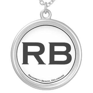 Rehoboth Strand-Sterlingsilber Halskette Mit Rundem Anhänger