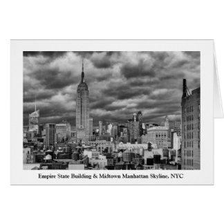 Reich-Staats-Gebäude, stürmischer NYC Skyline, B&W Karte