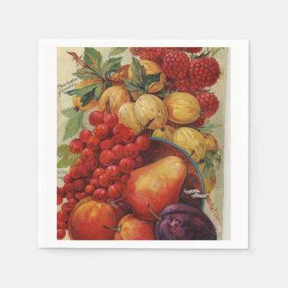 Reiche farbige Frucht Servietten