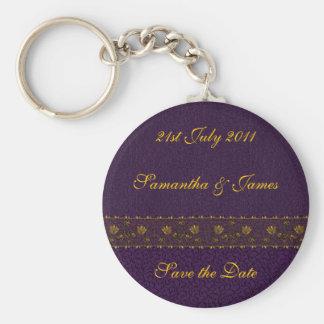 Reiche lila Hochzeit Schlüsselanhänger