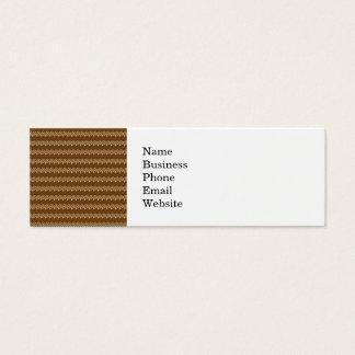Reiches Brown- und Leinen-Fall-Ernte-Blatt-Muster Mini Visitenkarte
