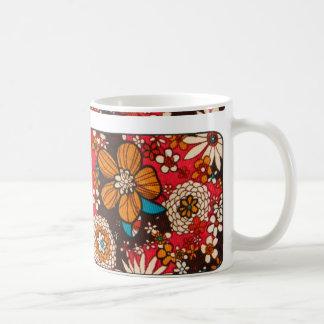 Reiches kostspielig Vintages Blumentextilmuster Kaffeetasse
