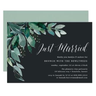 Reichliche Posten-Hochzeits-Brunch-Einladung des Karte