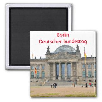 Reichstag Gebäude in Berlin, Deutschland Quadratischer Magnet