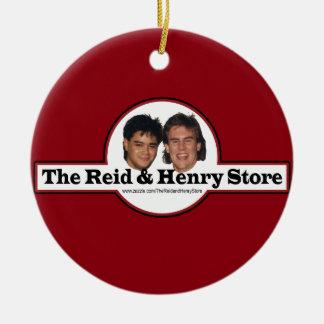 Reid u. die Henry-Speicher-Weihnachtsverzierung Rundes Keramik Ornament