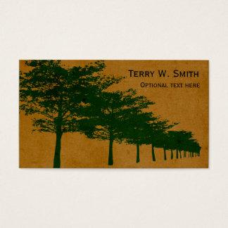 Reihe der Baum-Visitenkarte Visitenkarte