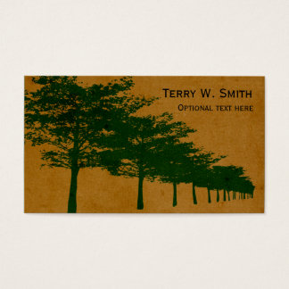Reihe der Baum-Visitenkarte Visitenkarten