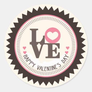 Reihe Tages Liebedes glücklichen Valentines Runder Aufkleber