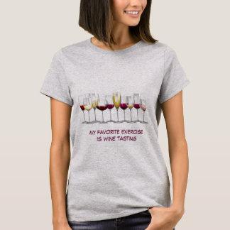 Reihe Wein-Gläser T-Shirt