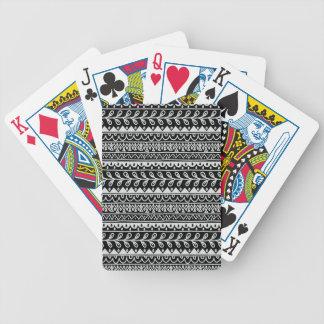 Reihen der Schwarzweiss-Gekritzel-Muster Bicycle Spielkarten