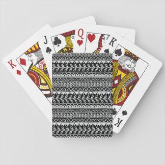 Reihen der Schwarzweiss-Gekritzel-Muster Spielkarten