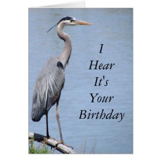 Reiher-alles- Gute zum Geburtstagkarten-Schablone Grußkarte
