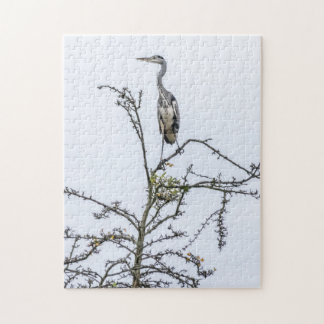 Reiher auf einem Baum-Fotopuzzlespiel