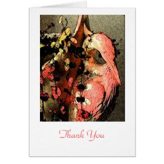 Reiher-Reiher danken Ihnen zu kardieren Karte
