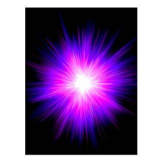 Reiki Flamme des Indigos lila heilendes göttliche Postkarte