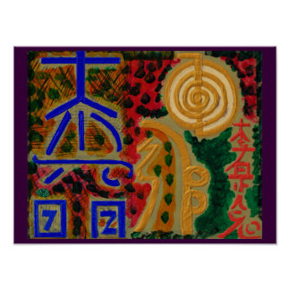 REIKI Karuna die Symbole heilender Meisters Poster