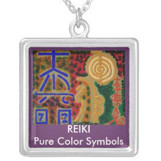Reiki Pendent Halsketten-Juwelen Versilberte Kette