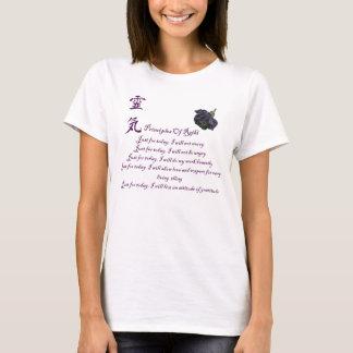 Reiki Prinzipien gerade für heute T-Shirt