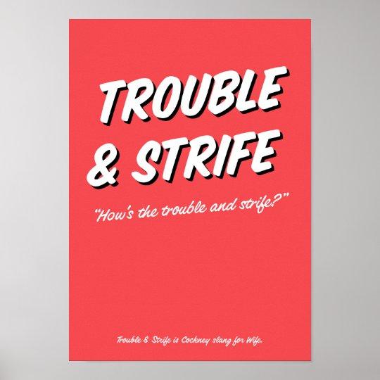 Reimendes Jargonplakat des Problem-und Poster