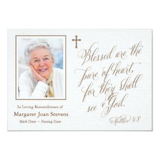 Rein vom Herz-Begräbnis danke zu kardieren Karte