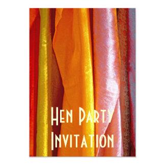 Reine Silk Gewebe-Henne-Party Einladung