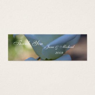 Reine weiße Rose Mini Visitenkarte