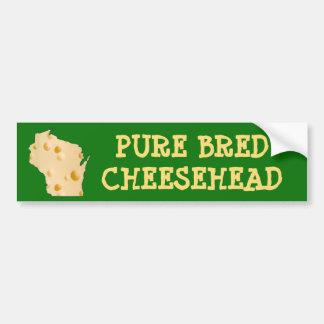 Reines gezüchtetes Cheesehead Wisconsin lustiges Autoaufkleber