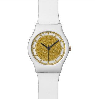 REINES GOLDSpritzer-Muster + Ihr Bild Uhr