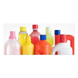 reinigende Plastikflaschen Werbekarte
