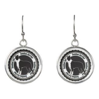 Reinrassiges Hundeliebhaber-Geschenk Bostons Ohrringe