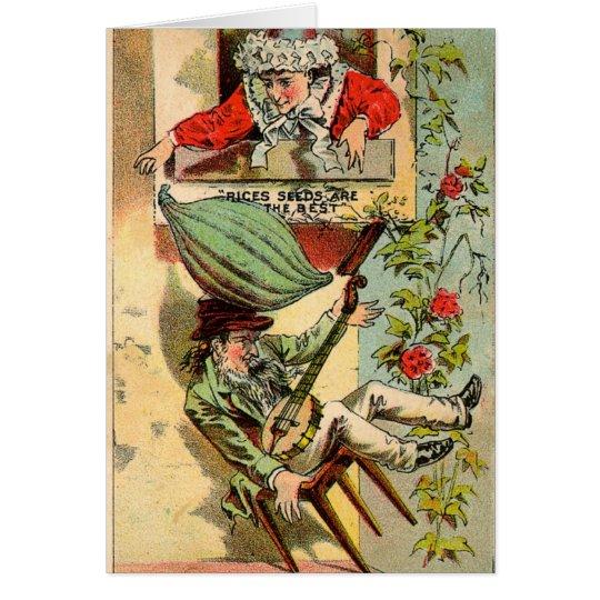 Reis-Samen-Vintage Anzeige Grußkarte