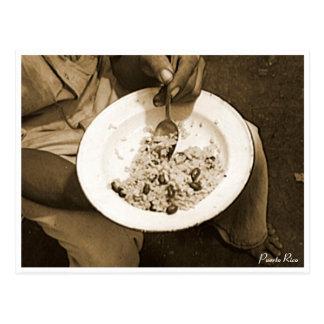 Reis und Bohnen, Kultur, Puerto Rico Postkarte