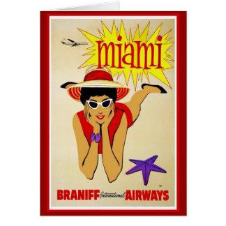 Reise-Amerika-Druck-Retro Vintage Reise Grußkarte